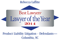 Best Lawyers Lawyer of the Year - Becky Laffitte 2014