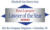 Best Lawyers Lawyer of the Year - Betsy Gray 2009