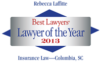 Best Lawyers Lawyer of the Year - Becky Laffitte 2013